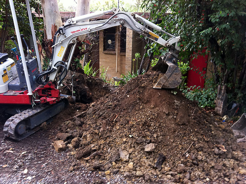 Our small excavator can save time and money